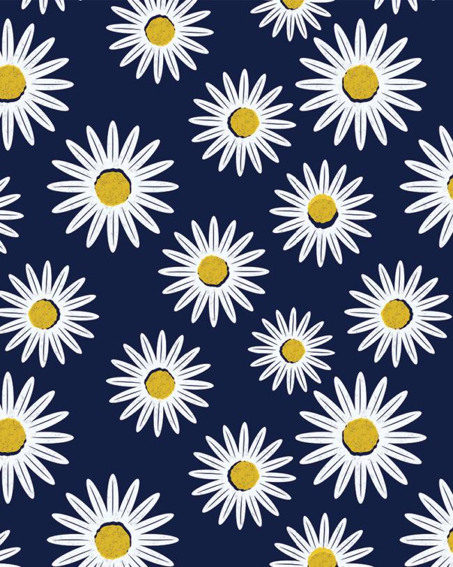 Daisy Misprint Flower Repeating Wellfleet Designs