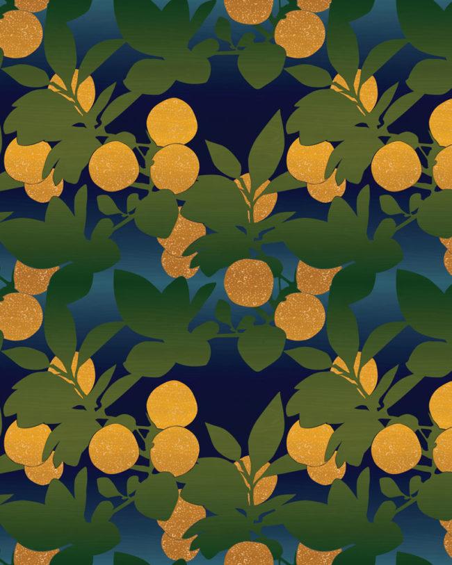 Orange Grove Ombre Repeating Wellfleet Designs